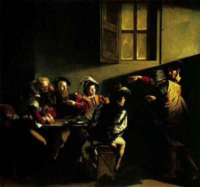 """Caravaggio: la """"Vocazione di san Matteo"""""""